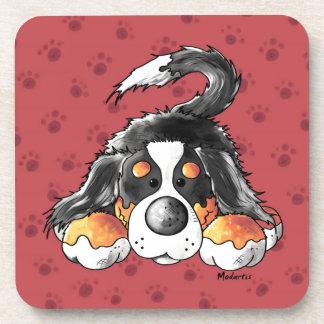 Dibujo animado divertido del perro de montaña de posavaso