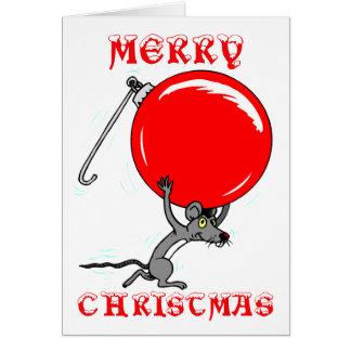 Dibujo animado divertido del ratón de las Felices  Tarjetas