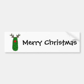 Dibujo animado divertido del reno del navidad de pegatina para auto