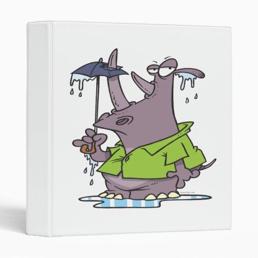 dibujo animado divertido del rinoceronte del día l