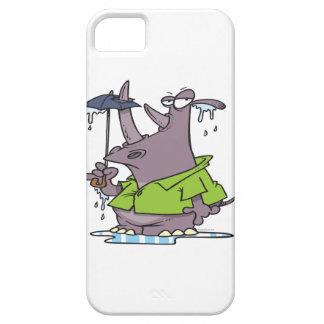 dibujo animado divertido del rinoceronte del día l iPhone SE/5/5s case