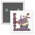 dibujo animado divertido del rinoceronte del juerg pin