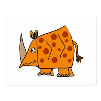 Dibujo animado divertido del rinoceronte tarjeta postal
