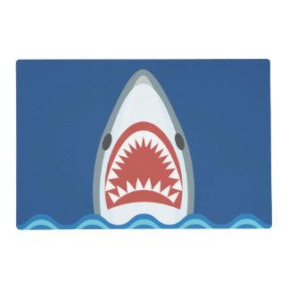 Dibujo animado divertido del tiburón tapete individual