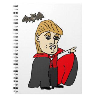 Dibujo animado divertido del triunfo de Trumpula Spiral Notebooks