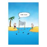 Dibujo animado divertido del voleibol del tiburón invitacion personal