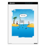 Dibujo animado divertido del voleibol del tiburón calcomanías para el iPad 2