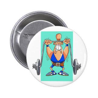 Dibujo animado divertido del weightlifter