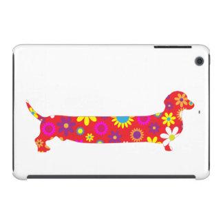 Dibujo animado divertido floral retro enrrollado fundas de iPad mini retina