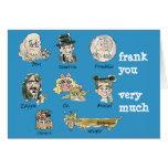 Dibujo animado divertido Frank usted mucho Tarjeton