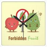 Dibujo animado divertido, fruta prohibida, Apple y