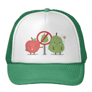 Dibujo animado divertido, fruta prohibida, Apple y Gorros Bordados