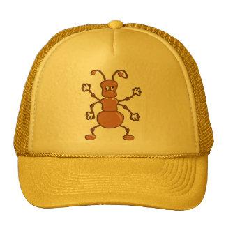 Dibujo animado divertido lindo de la hormiga gorro de camionero