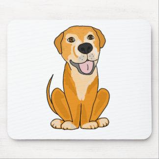 Dibujo animado divertido lindo del perrito del per alfombrilla de raton
