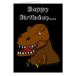 Dibujo animado divertido Tyrranosaurus Rex del cum Tarjeton