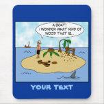 Dibujo animado divertido Woodturner en la isla Alfombrilla De Ratón