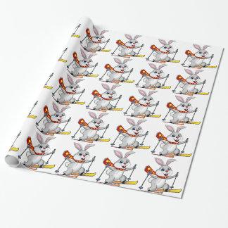 Dibujo animado divertido y lindo del conejito del papel de regalo