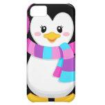 dibujo animado dulce lindo del pingüino de la niña funda para iPhone 5C