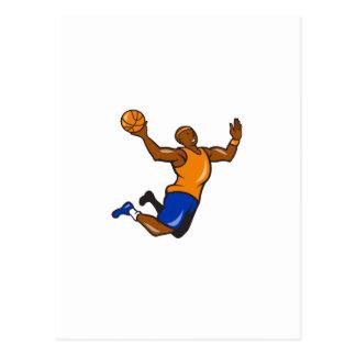 Dibujo animado Dunking de la bola del jugador de b Postales