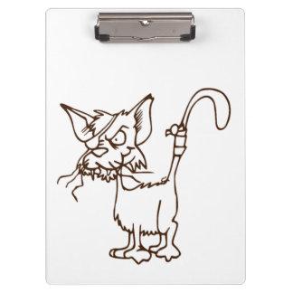 Dibujo animado duro del gatito del gato callejero