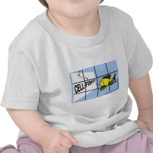 Dibujo animado egoísta de los pescados de los camisetas
