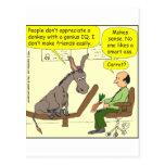 dibujo animado elegante del color del genio a$$ de tarjetas postales