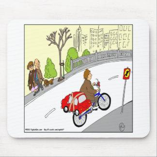 dibujo animado elegante del estante de la bici del tapete de ratón