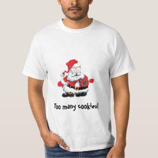 ¡dibujo animado enfermo de Santa de la camiseta
