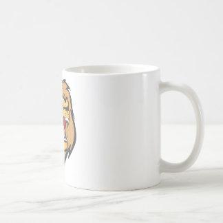 Dibujo animado enojado de encargo del león tazas de café