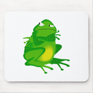 Dibujo animado enojado de la rana tapete de ratones