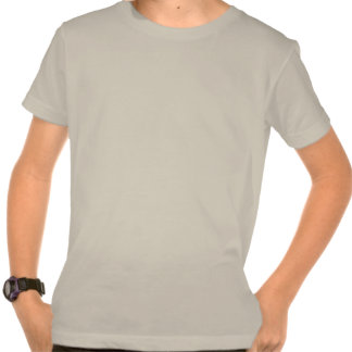 Dibujo animado enojado del escudo de la cabeza de camiseta