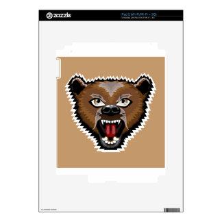 Dibujo animado enojado del oso calcomanía para el iPad 2