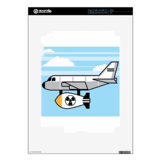 Dibujo animado enorme de la bomba iPad 2 skin
