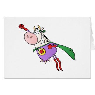 Dibujo animado estupendo de la vaca tarjetón