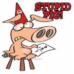 dibujo animado estúpido del cerdo del tonto del ce escultura fotográfica