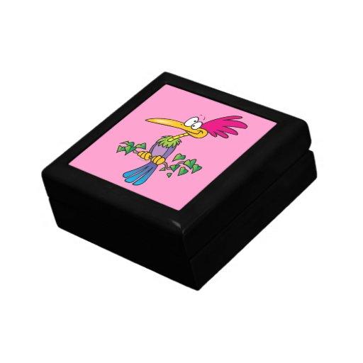 dibujo animado exótico tropical loco kooky del páj cajas de joyas