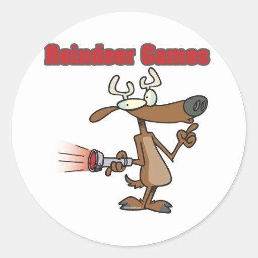 dibujo animado falso de Rudolph de los juegos del Pegatinas Redondas