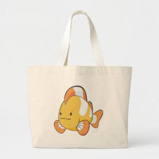 Dibujo animado feliz Clownfish Bolsa Tela Grande