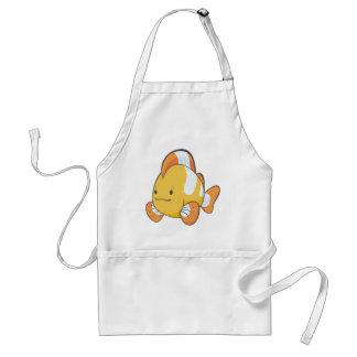 Dibujo animado feliz Clownfish Delantal
