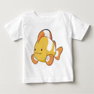 Dibujo animado feliz Clownfish Playera De Bebé