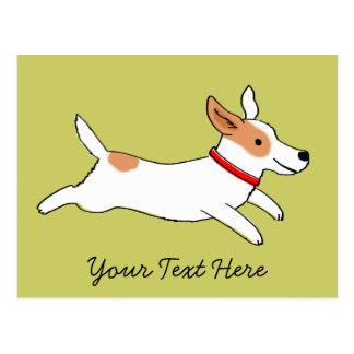 Dibujo animado feliz de Jack Russell Terrier del Postales