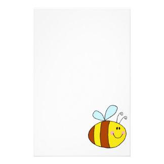 dibujo animado feliz de la abeja de la miel de la  papeleria
