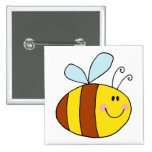 dibujo animado feliz de la abeja de la miel de la  pin