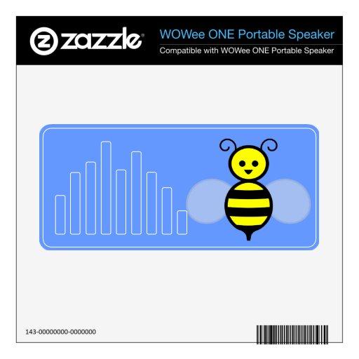 Dibujo animado feliz de la abeja altavoz WOWee skins