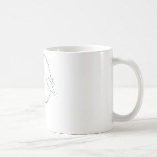 Dibujo animado feliz de la ballena de la beluga taza básica blanca