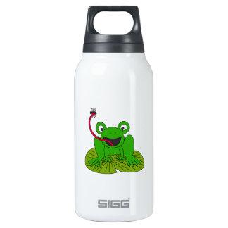 Dibujo animado feliz de la rana