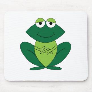 Dibujo animado feliz de la rana tapetes de ratón