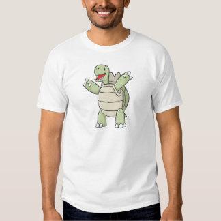 Dibujo animado feliz de la tortuga de las Islas Camisas