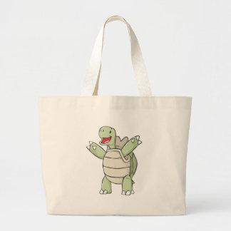 Dibujo animado feliz de la tortuga de las Islas Ga Bolsas Lienzo