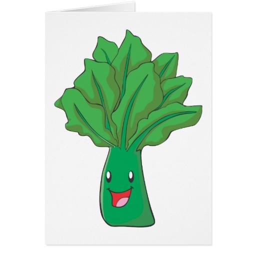 Dibujo animado feliz de la verdura de la espinaca imán para